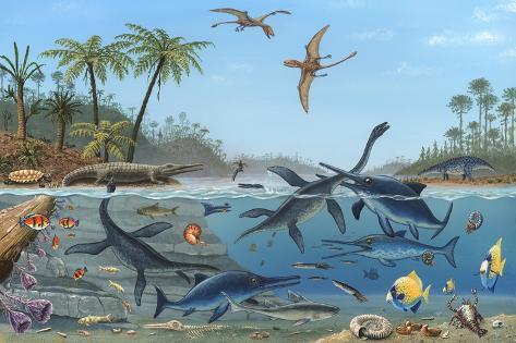 Jurassic Landscape, Artwork Photographic Print