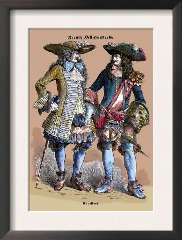 French Cavaliers, 18th Century Framed Art Print