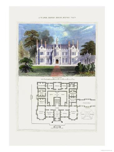 Tudor Manor House, Henry VIII Art Print