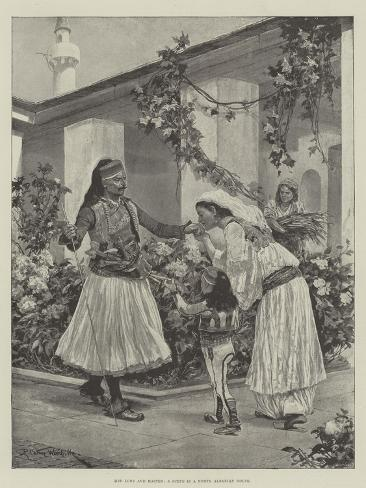 Her Lord and Master, a Scene in a North Albanian House Lámina giclée
