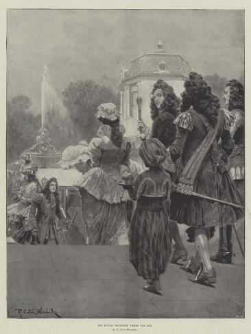 His Royal Highness Takes the Air Lámina giclée
