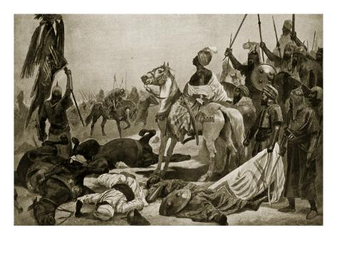 Hyder Ali at Conjeveram, 1780, Illustration from 'Hutchinson's Story of the British Nation', C.1923 Giclee Print