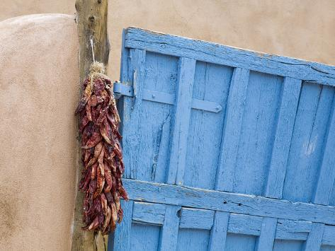 Blue Door in Taos, New Mexico, United States of America, North America Photographic Print