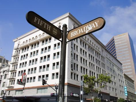 Fifth Avenue in the Gaslamp Quarter, San Diego, California, United States of America, North America Photographic Print
