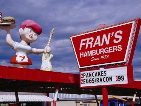 Fran's Drive Thru Burgers on South Congress Street in Austin, Austin, Texas Photographic Print
