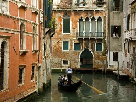 Gondola on Canal in San Marco District Photographic Print