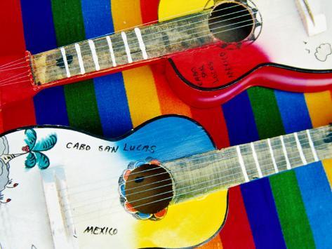 Locally-Crafted Guitars, Cabo San Lucas, Baja California Sur, Mexico Photographic Print