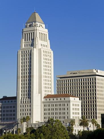 Los Angeles City Hall, California,United States of America, North America Photographic Print