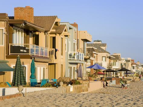 Oceanfront Homes in Newport Beach, Orange County, California, United States of America, North Ameri Photographic Print
