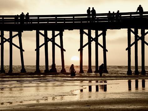 Pier at Sunset, Newport Beach, Orange County, California, United States of America, North America Photographic Print