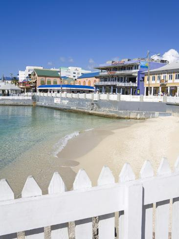 Stores on Harbour Drive, George Town, Grand Cayman, Cayman Islands, Greater Antilles, West Indies Photographic Print