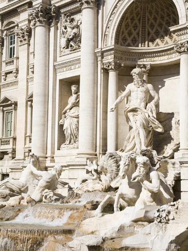 Trevi Fountain, Rome, Lazio, Italy, Europe Photographic Print