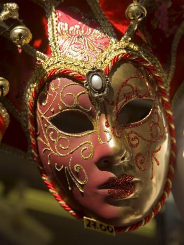 Venetian Mask, Venice, Veneto, Italy, Europe Photographic Print