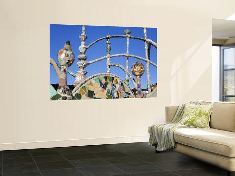 Watts Towers National Historic Landmark Seinämaalaus