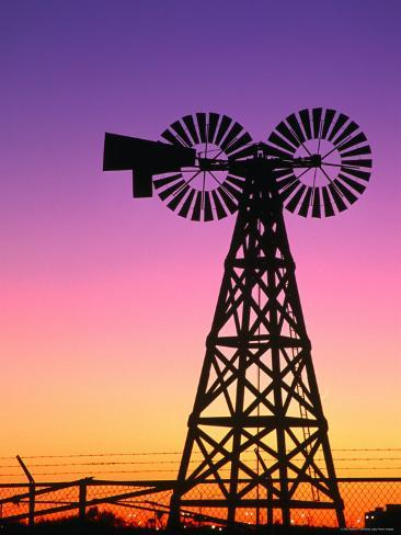 Windmills at American Wind Power Center, Lubbock, Texas Photographic Print