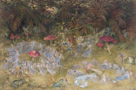 Fairy Rings and Toadstools, 1875 Lámina giclée