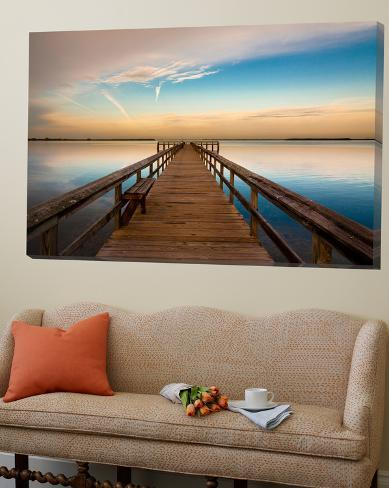 Sunrise on the Pier at Terre Ceia Bay, Florida, USA Loftkunst