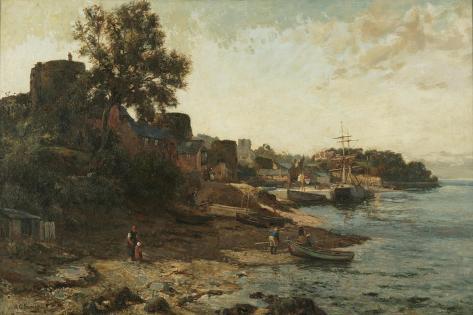 Conway Quay Giclee Print