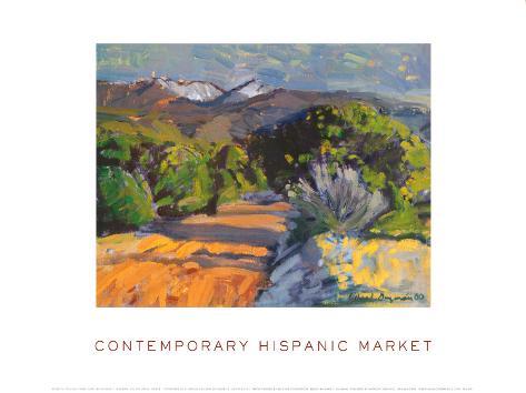 Road to Truchas Peaks Framed Art Print