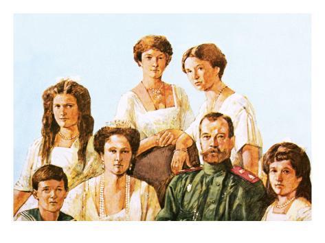 Tsar Nicholas Ii with This Family Giclee Print
