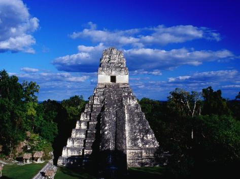Temple of the Grand Jaguar on the Great Plaza, Tikal, El Peten, Guatemala Photographic Print