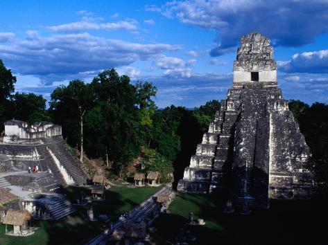 Temple of the Grand Jaguar on the Great Plaza, Tikal, Guatemala Photographic Print