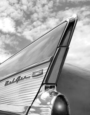 '57 Fin Stretched Canvas Print