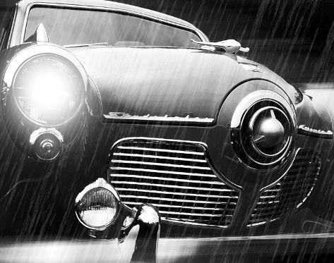 Studebaker Rain Stretched Canvas Print