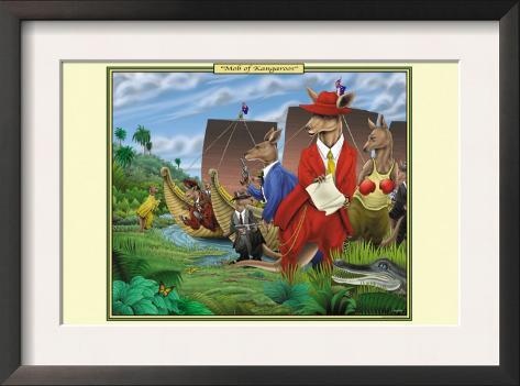 Mob of Kangaroos Framed Art Print