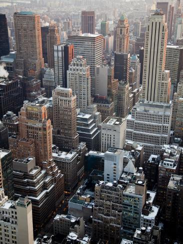 Manhattan Buildings from Rockefeller Center Photographic Print
