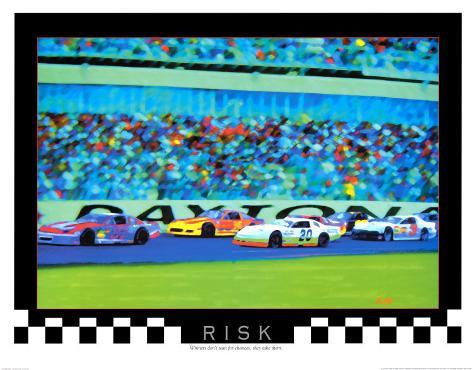 Risk: Auto Racing Art Print
