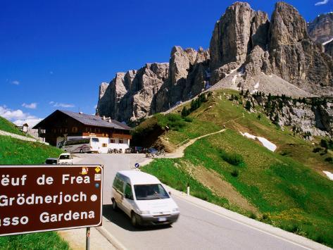 Gardena Pass, Dolomiti Di Sesto Natural Park, Italy Photographic Print