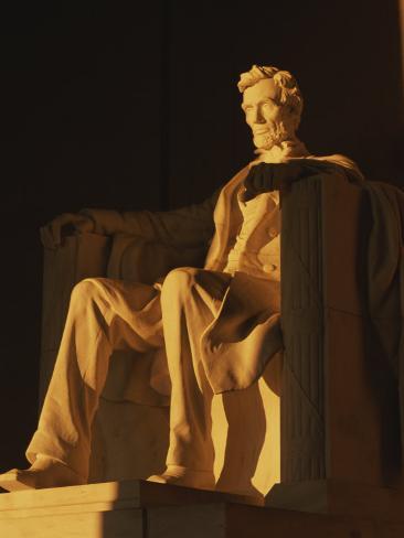 Abraham Lincoln Statue in Lincoln Memorial, Washington, D.C. Photographic Print
