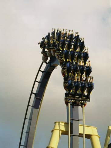 Egypt-Montu Rollercoaster at Busch Gardens Photographic Print