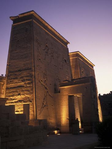 Temple of Philae at Agilka Island, Egypt Photographic Print