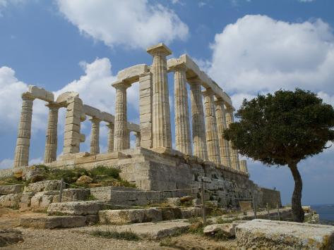 The Ruins of the Poseidon Temple at Cape Sounion Photographic Print