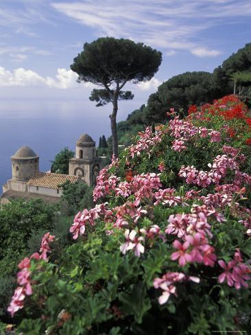 Villa Rufolo and Wagner Terrace Gardens Ravello, Amalfi Coast, Italy Photographic Print