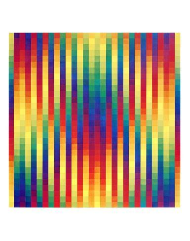 Thirty Columns of Systematic Yellow Squares Collectable Print