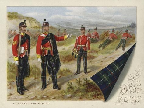 The Highland Light Infantry Stampa giclée