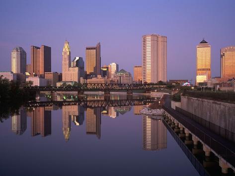 Skyline, Columbus, Ohio Photographic Print
