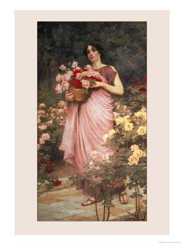 In a Garden of Roses Art Print