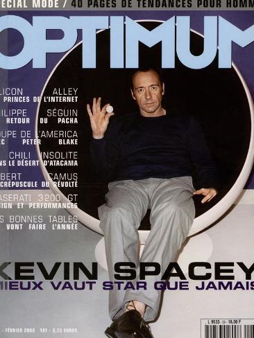 L'Optimum, February 2000 - Kevin Spacey Habillé en Prada Art Print