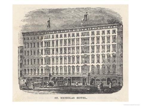 St. Nicholas Hotel New York Giclee Print