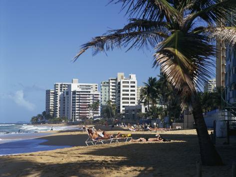 Condado Beach, San Juan, Puerto Rico, Central America Photographic Print