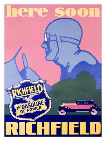 Richfield Advertising, c.1929 Giclee Print