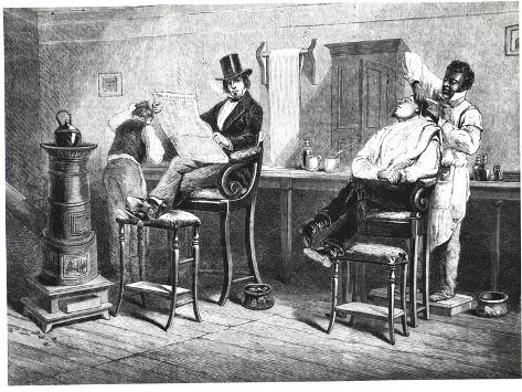 Richmond Barber's Shop, 1861 Lámina giclée