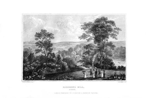 Richmond Hill, Surrey, England, 1829 Giclee Print