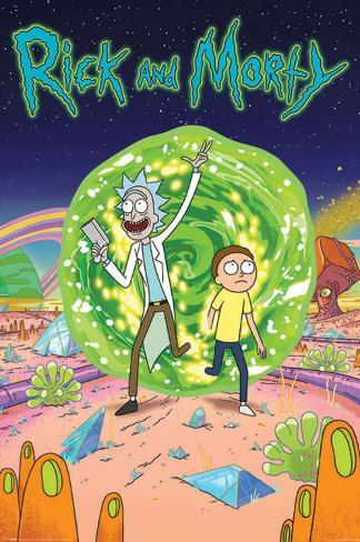 Rick And Morty- Through The Portal Poster
