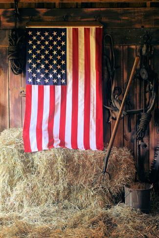 Patriot Barn Photographic Print