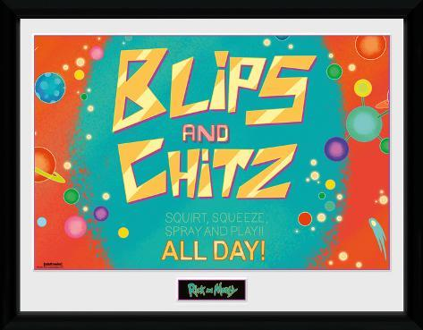 Rick & Morty - Blips & Chitz Collector Print